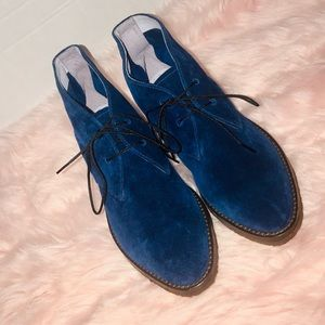 New Johnston and Murphy royal blue suede shoes
